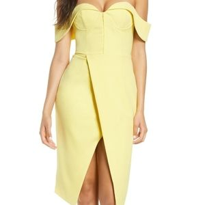 Lavish Alice Pin-Up Bustier Lemon Yellow Dress NWT